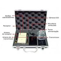 Kit de micro câmera botão com transmissor e receptor RF